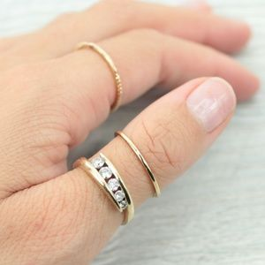 Jewelry - 100% SOLID GOLD 14K GENUINE EARTH DIAMOND RING
